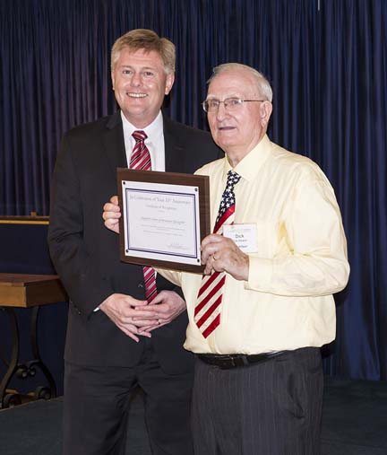 John Cook and President Dick Stewart